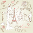 LOVE in Paris doodles — Stock Photo #7552196