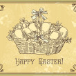 Vintage easter card - Stock Photo