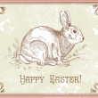 图库照片: Vintage Easter rabbit