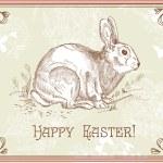 conejo de Pascua Vintage — Foto de Stock