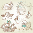 Royalty-Free Stock Photo: Vintage Easter Set