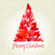 Beautiful Red Christmas tree — Stock Photo