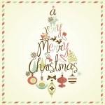 A Very Merry Christmas tree design — Stock Photo