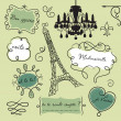 Doodle frames in French style — Stock Photo