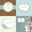 Set of cute greeting cards — Stock Photo