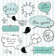 Speech bubbles set in French style — Stock Photo #7552626