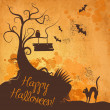 Stok fotoğraf: Halloween grunge vector background