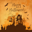 Halloween grunge vector background - Foto Stock