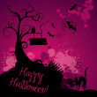 Halloween grunge vector background — Foto de Stock