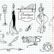 Boutique haute couture and Dressmaking — Zdjęcie stockowe