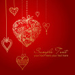 The Valentine's day greeting card — Foto de Stock