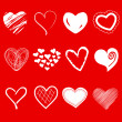 Stock Photo: A set of heart shapes