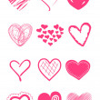 Cute doodles hearts set — Stock Photo #7552769