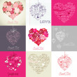Greeting cards with heart - Foto Stock
