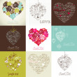 Greeting cards with heart — 图库照片