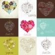 Greeting cards with heart — Stockfoto