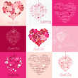 Greeting cards with heart — Stock Photo #7552811