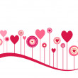 Cute vector valentine background - Foto Stock