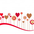 Cute vector valentine background - Stock Photo