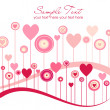 Cute vector valentine background — Stock Photo #7552835