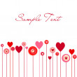 Cute vector valentine background — Stock Photo