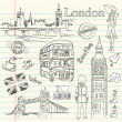 London doodles - Foto Stock