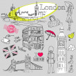 London doodles — Stock Photo #7552911