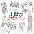 London doodles — Stock Photo #7552921