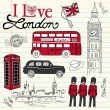London doodles - Stok fotoraf
