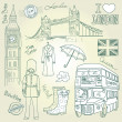 London doodles — Stock Photo