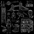 Cool London doodles - Stock Photo