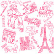 LOVE in Paris doodles — Stock Photo #7552984