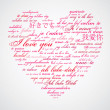 Say I love you in many languages - Stok fotoraf