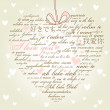 Royalty-Free Stock Photo: A heart made of words I love you in many languages