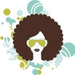 Afro woman — Stock Photo