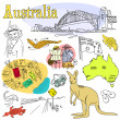 Australia Doodles — Stock Photo