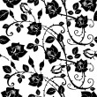 Stock Photo: Seamless Floral Rose pattern