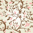 Vector seamless pattern with spring branches — Stock Photo