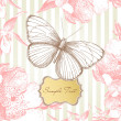 Vintage card with a butterfly — Stock Photo #7559400