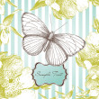 Glamorous card with a butterfly — Stock Photo