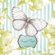 Glamorous card with a butterfly — Stock Photo #7559447