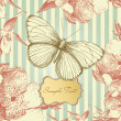 Vintage card with a butterfly — Stock Photo #7559499