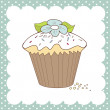 Stock Photo: Cupcake doodle
