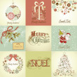 Set of Christmas Cards - Stock Photo