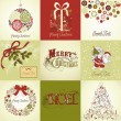 Set of Christmas Cards — Stock Photo #7559654