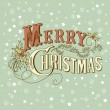 Vintage christmas card. merry christmas belettering — Stockfoto #7559717