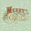 Stock Photo: Vintage Christmas Card. Merry Christmas lettering