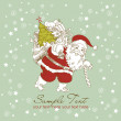 Christmas Card. Santa Claus with Bag of gifts. — Stock Photo #7559736