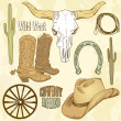 Stock Photo: Wild West Western Set