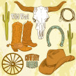 Wild West Western Set - Stock Photo